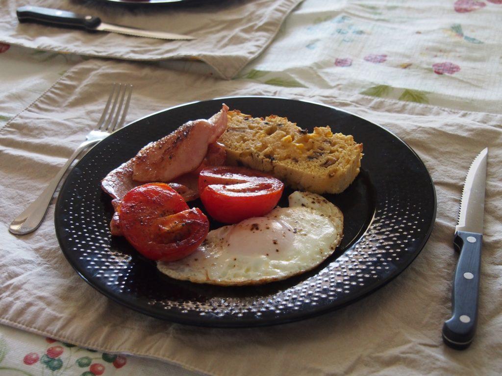 Cooking Blog - Mushroom Cornbread Breakfast