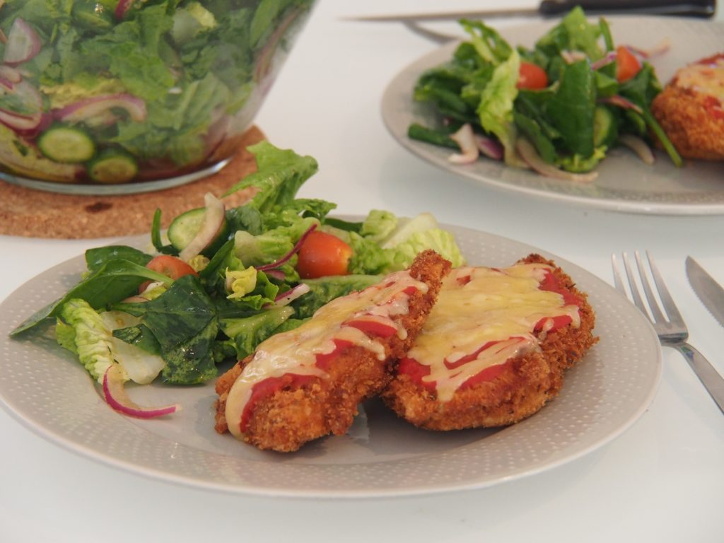Cooking Blog - Chicken Parmigiana with Salad